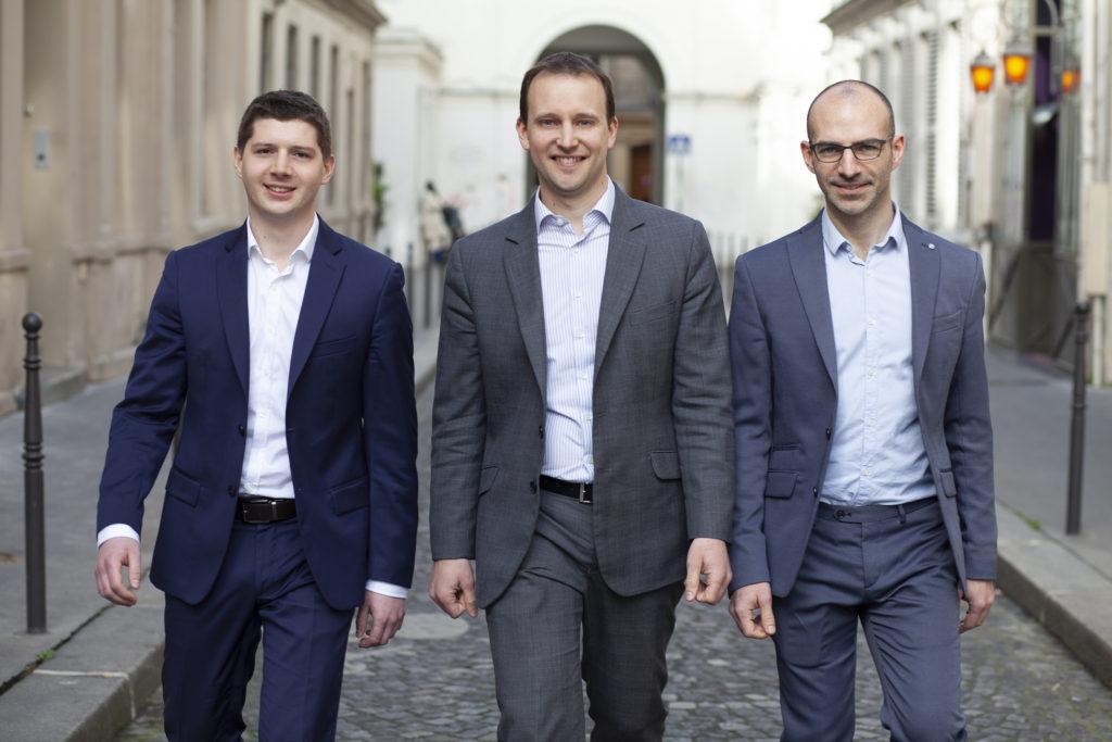 Equipe Nuxly pour l'offre de DSI temps partagé : Charles Ducourant, François Desmottes et Thibaut Camberlin
