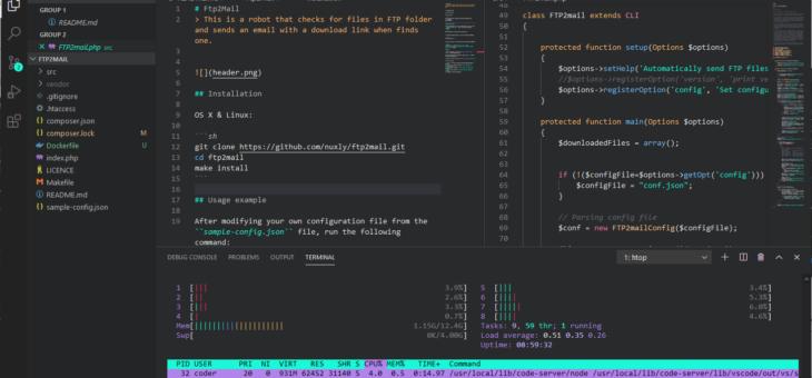 Visual Studio Code dans votre navigateur !