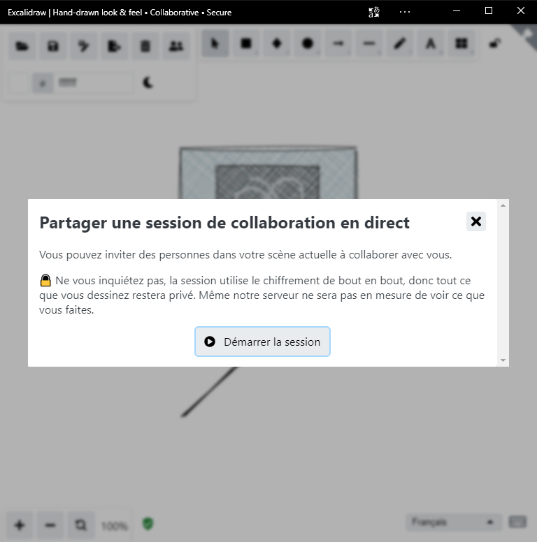 Excalidraw - partager une session